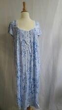 Charter Club Intimates Cotton Jersey Blue Floral Sleep Night Gown L XL new $58