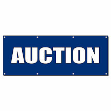 Auction 13 Oz Vinyl Banner Sign With Grommets