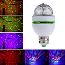 E27 3W Auto Rotating RGB LED Bulb Stage Light Party Lamp Disco new brand