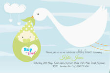 Personalised Baby Shower Invitation Baby in Stalk Print Yourself or We Print