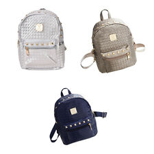 Fashion PU Leather Travel Satchel Shoulder Bag Backpack School Rucksack yyu