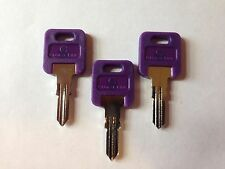 3 FIC RV PURPLE Plastic Head Code Cut Key EF301-EF351,CH751Travel Trailers