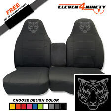 91-15 Ford Ranger Charcoal 60-40 Seat Covers W Tiger Design Choose From 9 colors