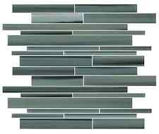 Beach Break Hand Painted Linear Glass Mosaic Tiles - Backsplash/Bathroom Tile