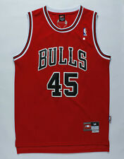 Michael Jordan #45 Chicago Bulls Stitched Swingman Basketball Red Jersey