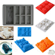 New Silicone Star Wars Ice Tray Mold Ice Cube Tray Chocolate Fondant Mould 51aw
