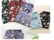 Collar Floral Long Sleeve Shirt Blouses Blouse Tops Turn Down Women New Blouses