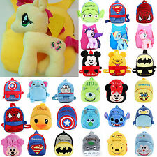 Children Kids Baby Soft Plush Travel Snacks School Bag Cartoon Rucksack Backpack