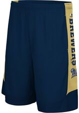 Milwaukee Brewers MLB Mens Cool Base Defiant Performance Shorts Navy Big Sizes