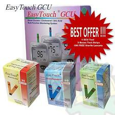 Easy Touch GCU Blood Glucose Cholesterol Uric Acid Monitoring System Test Strips