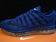 Nike Air Max Mens Running Shoes Deep Royal Blue, Black, Racer Photo zoom flyknit