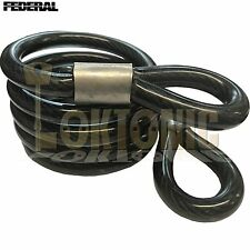 Federal FD30694 10mm Spiral Steel Twisted Heavy Duty 1.2m Double Loop Cable