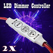 12V MINI INLINE  LED STRIP LIGHT DIMMER CONTROLLER ON OFF SWITCH FOR 3528 5050