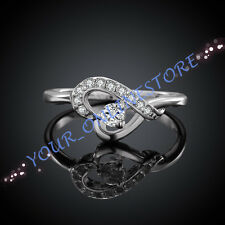 Stunning 925 Sterling Silver Plated Love Heart Ring