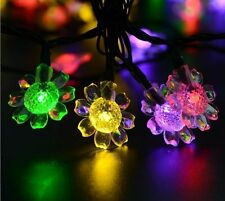 Solar Christmas String Lights 40LED 24.6ft 8Modes Fairy Sunflower Lighting