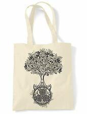 Celtic Spiral Tree of Life Tote Shoulder Shopping Bag - Druid Wicca Pagan