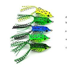 NEW Cute Frog Topwater Fishing Lure Crankbait Hooks Bass Bait Tackle 5 COLOR m1
