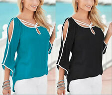 Sleeve Blouse Women Casual Loose Ladies Top T-Shirt Tops Summer Short Fashion