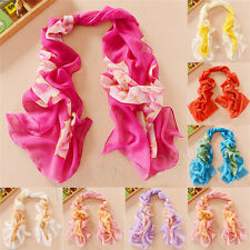 Women Lady Chiffon Peony FLoral Long Soft Neck Scarf Shawl Scarves Stole Wraps X