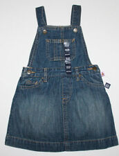 baby Gap NWT Girls 6 12 18 24 Mo Blue Denim Overall Jumper Dress w/ Diaper Cover