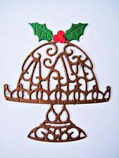 10 Christmas Pudding Die Cuts, Holly & Berries. Create & Craft. Any Colour/Card
