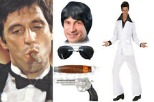 Tony Montana 70s Scarface Instant Kit Suit Wig Glasses Cigar Pistol Gangster