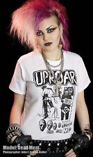 UPROAR T shirt PUNK WHITE UK 82 POGO 77 STREET OI NOISE