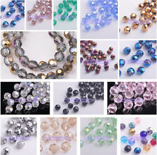 New Hotsale 50pcs 6mm Round Faceted Glass Loose Spacer Beads Jewelry Findings