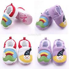 Baby Infant Girls Newborn Snowman Printed Shoes Slip On Soft Sole Shoes 0-12M