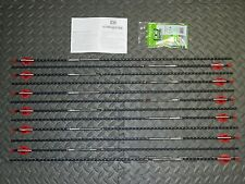 New 12 Easton FMJ 340 Spine Arrows- Full Metal Jacket- 11.3 GPI- Cut/Inserted