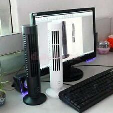 Portable Mini Bladeless No Leaf Air Conditioner USB Cooling Desk Tower Fan
