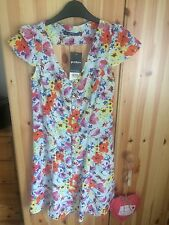 Miss Selfridge Petite Size 6 Pretty Cute Colourful Summer Holiday Floral Dress
