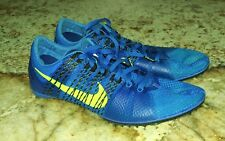 MENS 8 10.5 11.5 NIKE Zoom Victory 2 Blue Volt Mid Distance Track Spikes Shoes