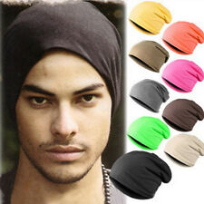 Unisex Womens Mens Oversized Baggy Beanie Slouch Ski Hat Cap UK