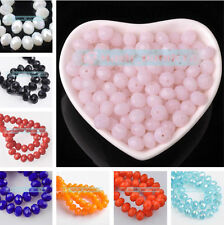 New Bulk Wholesale 50pcs 6x4mm Rondelle Faceted Crystal Glass Loose Spacer Beads