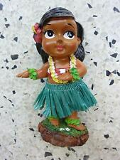Dashboard Doll Hula Girl Tiki 50s Rockabilly Hawaii Kustom Kulture Green Dancing