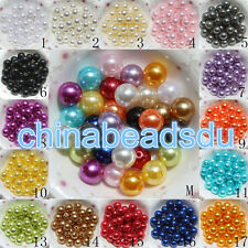 Wholesale Acrylic Pearl Round Spacer Loose Beads 4/6/8/10/12/14/16/18/20MM