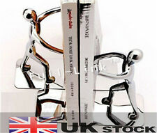 Pairs Book 2pcs Humanoid Metal Creative Bookends Stainless Steel Study UK SELLER