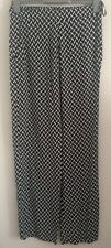 NEW Ex DP: Size 8-20 Abstract Print Black & White Trousers Summer Holiday