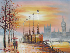 London England large oil painting canvas contemporary modern original British