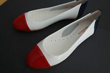 NIB Brooks Brothers 346 Red White Blue Patent Leather Shoes