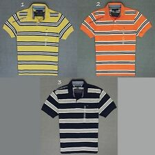 TOMMY HILFIGER  NEW MENS COTTON PIQUE STRIPED POLO RUGBY SHIRT,NWT,RETAIL $52.50