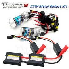 55W HID Xenon Bulbs Headlight Slim Metal Ballast Conversion Kit H1 H3 H4 H7 9005
