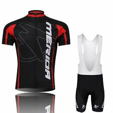 Cycling Short Sleeve  jersey Jacket Padded Shorts Outdoor Bicycle Wear black