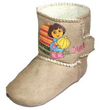 Dora the Explorer Girl's Cute Pumpkin Slipper Boots