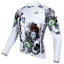 Skull Men Long Sleeve Cycling Jersey Bicycle Bike Sportwear Apparel CX29e