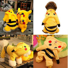 Pet Dog Cat Winter Clothes Apparel Puppy Warm Jacket Hoodie Pikachu Coat Costume