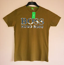 New Hugo Boss Crew Neck Mens Short Sleeve Size S M L XL Tee T Shirt Color Brown