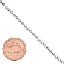 Men's Thin 2mm Dog Tag Military Ball Chain White 14K Layered Gold Bead Chain