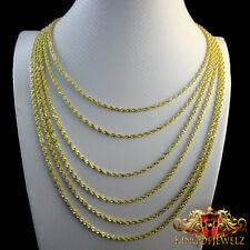 SOLID 10K YELLOW GOLD VALUE ROPE PREMIUM QUALITY CHAIN NECKLACE 2 MM 16~26 INCR